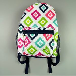 Thirty-One Backpack Multi-Colored Diamonds